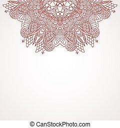Mehndi henna design background - Ethnic background. Mehndi...