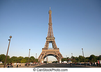 Eiffel tower - One of landmarks in the capital of France on...