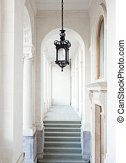 Livadia palace, walkway under portico - Vorontsov Palace,...