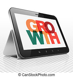 Finance concept: Tablet Computer with Growth on  display