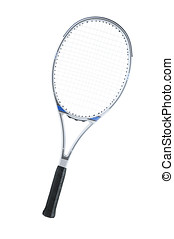 Tennis racket isolated on a white background.