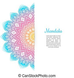 Color Mandala background template