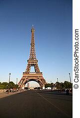 巴黎, 法國, -, 可以, 22:, 一, 界標, 首都, 法國,...