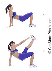 Dips to kicks - Start in a reverse plank position with your...