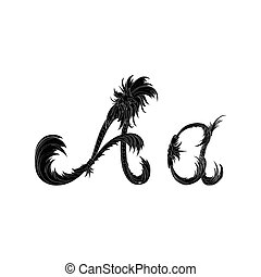 Abstract letter A logo icon black and white design