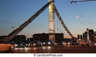 Krymsky Bridge in Moscow, Russia - Krymsky Bridge or Crimean...