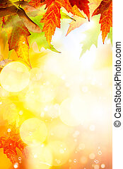Art abstract autumn background