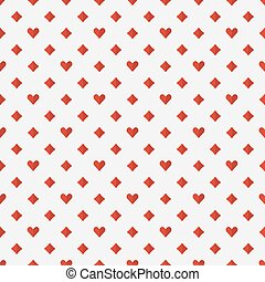 Red poker seamless pattern
