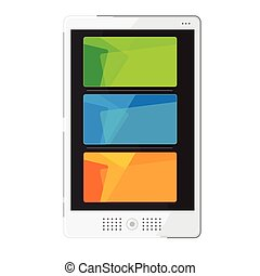 Tablets In New Style colour Orange green blue Vector