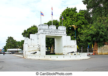 The Front Gate Of Kanchanaburi City ,Thailand.