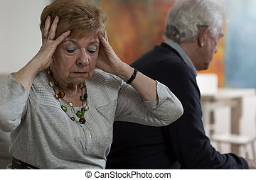 Heartbroken senior woman - Lady is nervous because of...