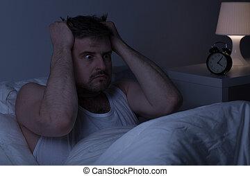 Mentally ill man at night