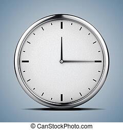 3d clock, concept