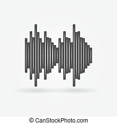 Soundwave black vector icon - Soundwave icon - black vector...