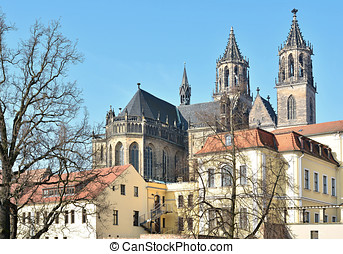 Magdeburg Cathedral with Old Town