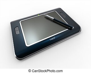Tablet Pc - 3d concept render of tablet pc