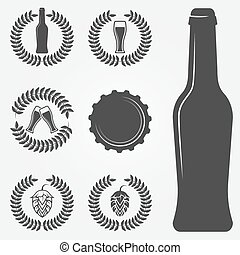 Beer labels and vector emblems - Beer labels and emblems -...