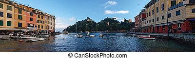 Italy, Portofino. The Harbor - Portofino. Italy - February...