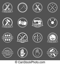 Handmade vector labels