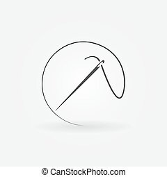 Needle vector icon or logo - Needle icon or logo - vector...
