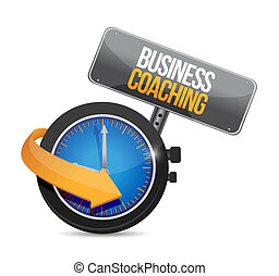 business coaching time watch sign concept