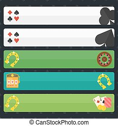 Casino or poker banners - Casino or poker horizontal banners...