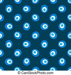 Evil eye pattern - vector dark Turkey seamless texture