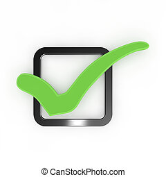 Green check mark. - Green check mark isolated on white...