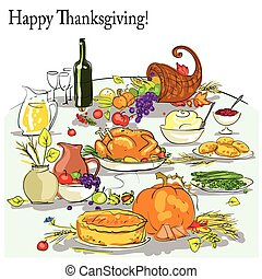 Thanksgiving background with space for text Card design
