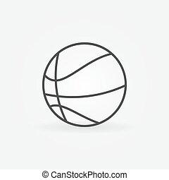 Basketball icon or logo
