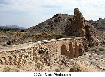 Aqueduct in Kharanaq village near Yazd. Iran