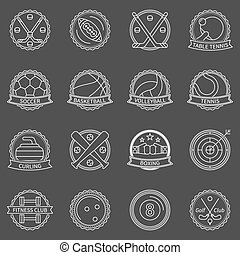 Sport labels or badges