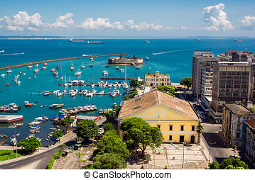 All Saints Bay in Salvador, Brazil - View of beautiful All...