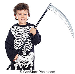 Boy in halloween - ADORABLE BOY DISGUISED IN HALLOWEEN a...