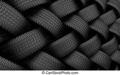 Black tire rubber. - Black tire rubber, vehicle part, spare...