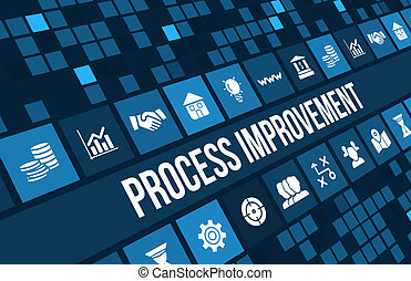 process improvement concept image with business icons and...
