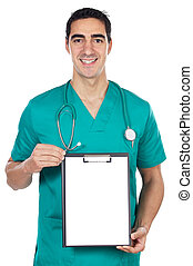 doctor whit notepad