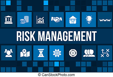 Risk Management concept image with business icons and...