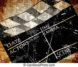 Old clapboard - Old grunge clapboard on a brown background