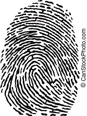 Fingerprint - Vector black isolated fingerprint on white...