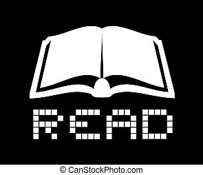 read icon - Creative design of read icon