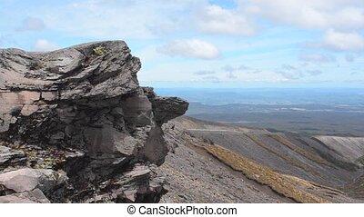 Wild landscape of Tongariro National Park New Zealand -...