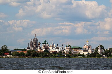Kremlin Rostov Veliky Russia - View from Lake Nero to...