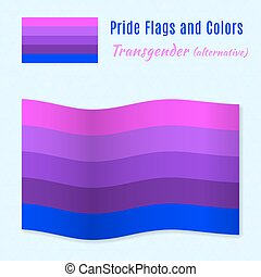 Transgender pride flag with correct color scheme, both still...