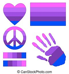 Transgender pride design elements - Transgender pride flag,...