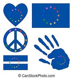 European gay pride design elements.