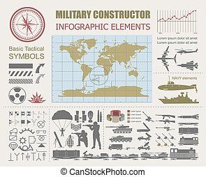 Military infographic template. Vector illustration with Top...