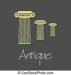 antique column symbols simple business banner eps10