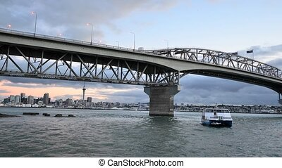 NZ Timelapse 02 - Time Lapse of Auckland bridge in Auckland,...