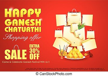 Lord Ganesha for Ganesh Chaturthi Sale offer - easy to edit...